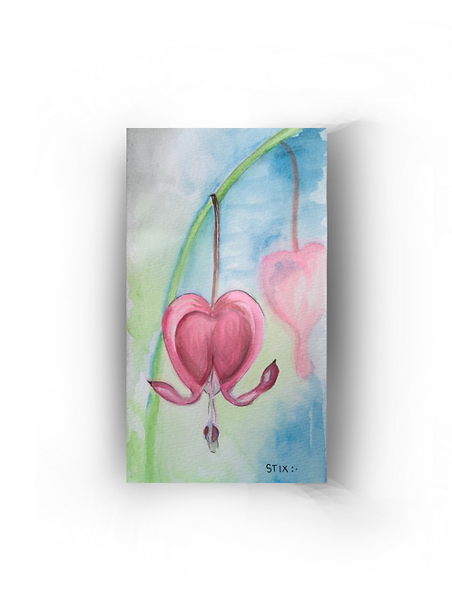 Watercolor Bleeding Heart