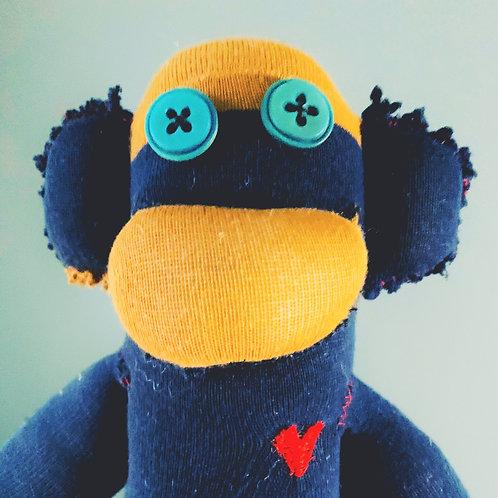 Hand Stitched Sock Monkey