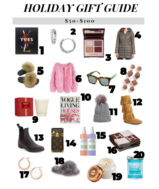 HOLIDAY GIFT GUIDE - BEST GIFTS $50-$100