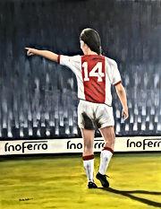 Trudy Arts schilderij Johan Cruijff #14 Legend