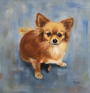 Trudy Arts schilderij hond dog painting
