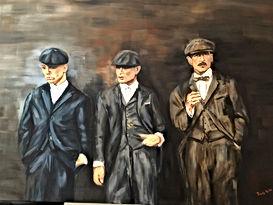 Trudy Arts schilderij Peaky Blinders