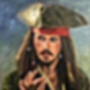 Jack Sparrow schilderij door Trudy Arts