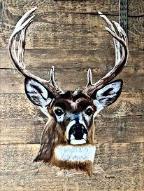 Schilderij hert door Trudy Arts