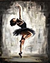 Ballerina scilderij door Trudy Arts, Ballerina painting