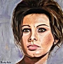 Sophia Loren schilderij door Trudy Arts
