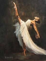Ballerina schilderij door Trudy Arts