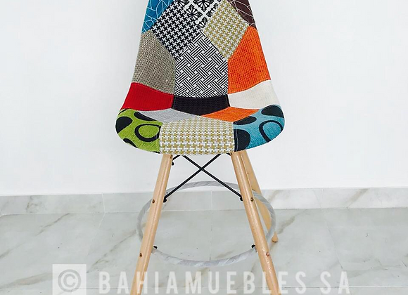 SILLA TABURETE PATCH DE COLORES