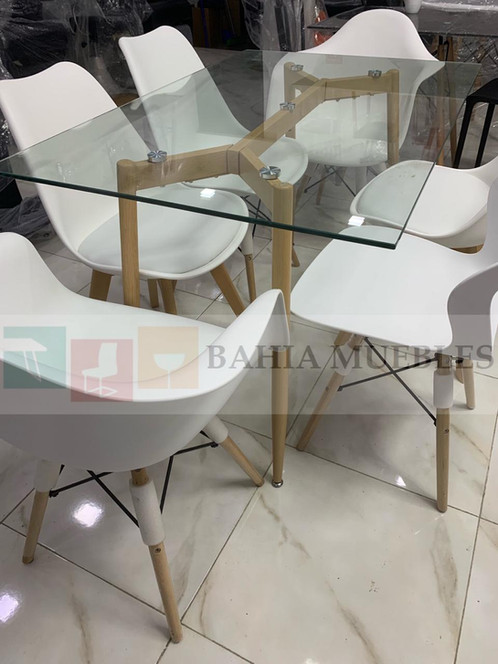 Mesa comedor vidrio templado 6 puestos