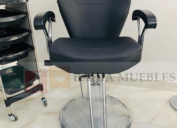 SILLA HIDRAULICA CON SISTEMA RECLINABLE PELUQUERÍA BARBERO MAKE UP