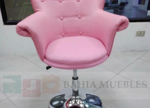 Taburete Queen color rosado
