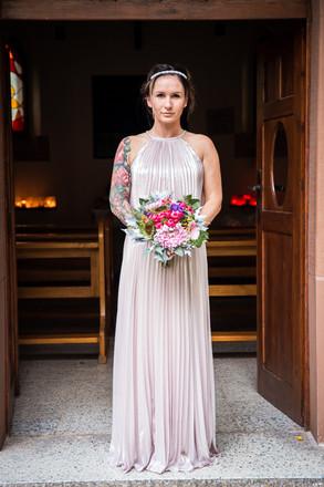 Braut allein