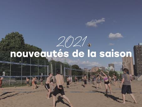 Les nouveautés de la saison 2021