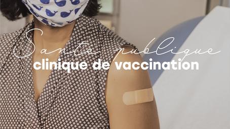Clinique de vaccination éphémère dans Milton-Parc