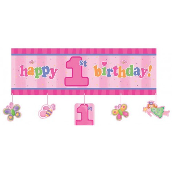 Fun at One Party Girl 1st Birthday Giant Banner