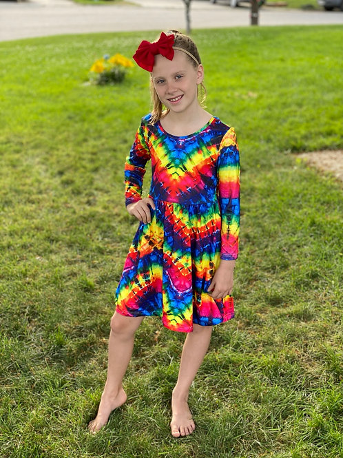 Colourful Tye Dye Dress