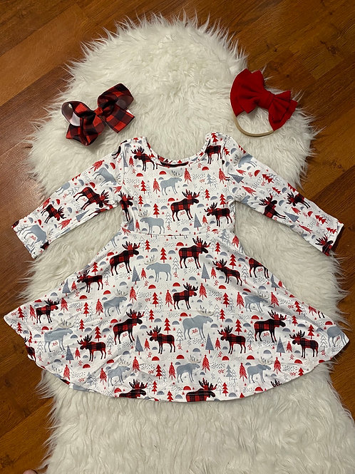 Plaid Moose Dress