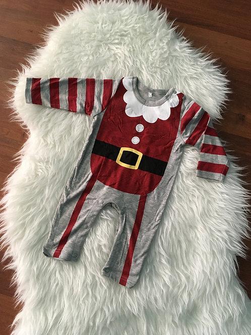 Santa Red/Grey Romper