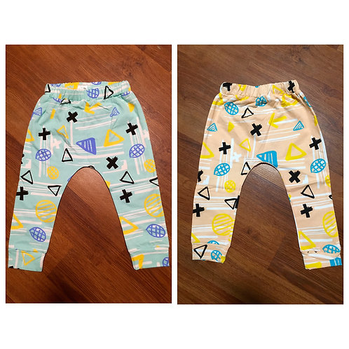 Peach/Blue Harem Pants