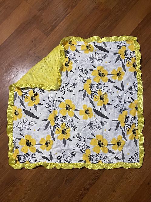 Mustard Flower Baby Blanket