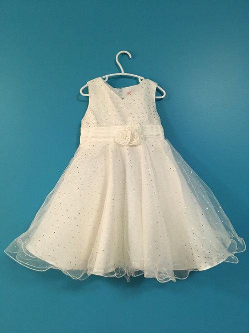 Off White Sparkle Dress
