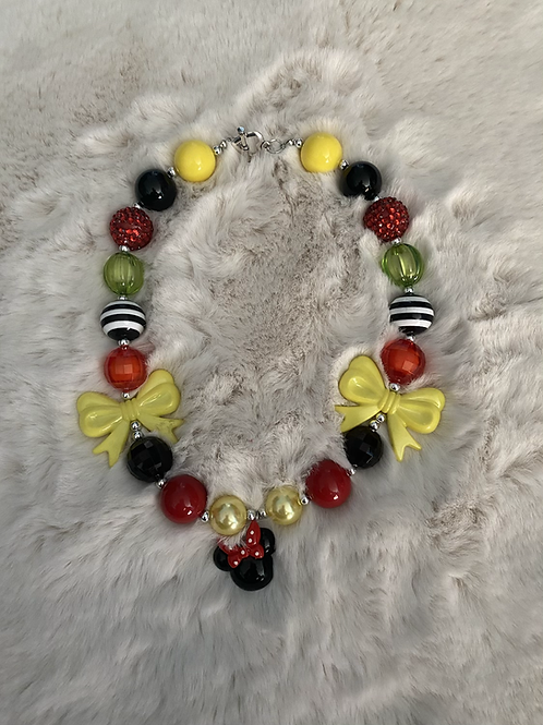 Minnie Inspired Bubble Necklace