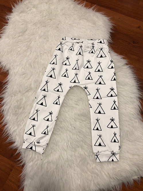 White Harem Teepee Pants