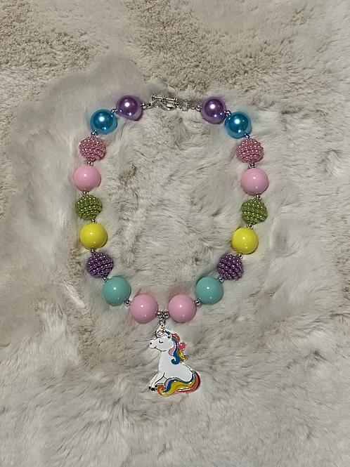 Unicorn Rainbow Bubble Necklace
