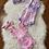 Thumbnail: Pink/Purple Tye Dye Rompers with Headwraps