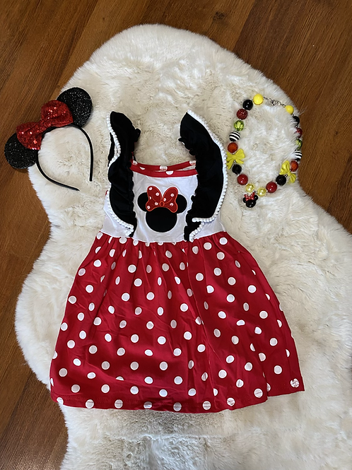 Poke a Dot Minnie Inspired Dress