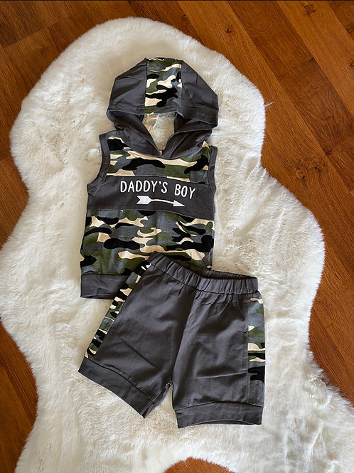 Daddy's Boy Camo Outfit