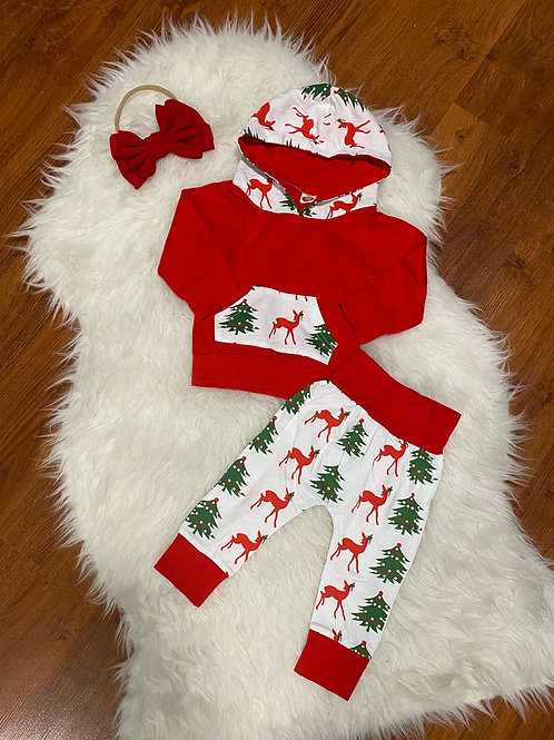 Christmas Tree Reindeer Outfit