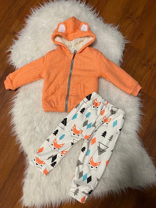 Fleece Lined Sweater/Pants Fox Outfit