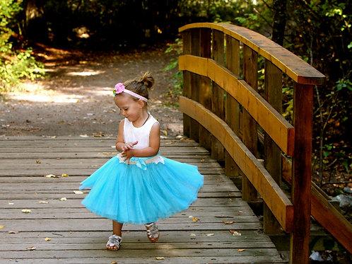 Blue Bottom Tutu Dress
