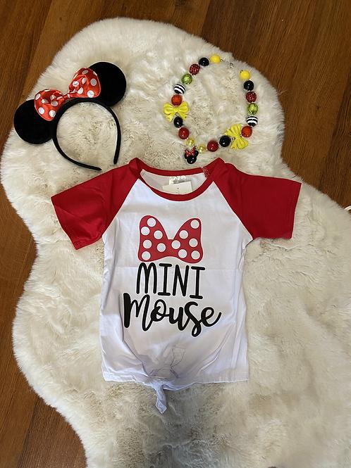 Mini Mouse Tie Up Shirt