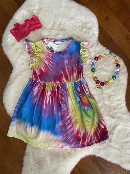 Short Sleeve Tye Dye Dress