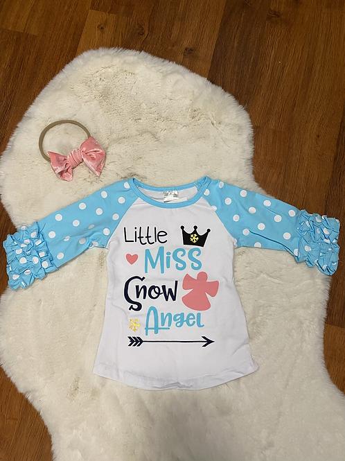 Little Miss Snow Angel Shirt
