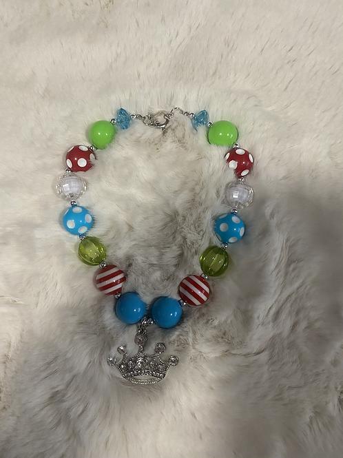 Colorful Tiara Bubble Necklace