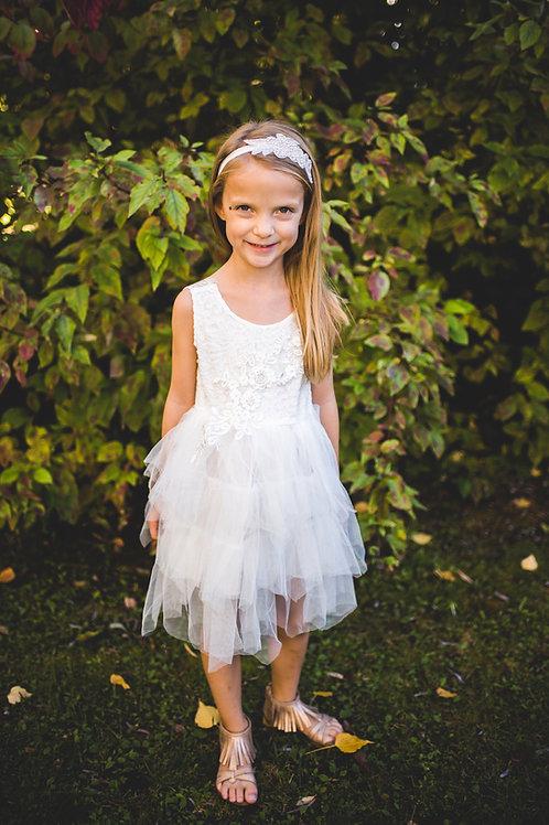 Sleeveless All White Tutu Dress