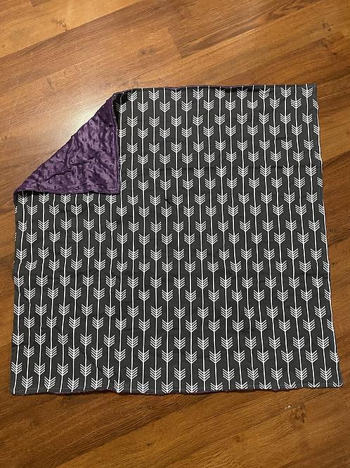 Purple Arrow Baby Blanket