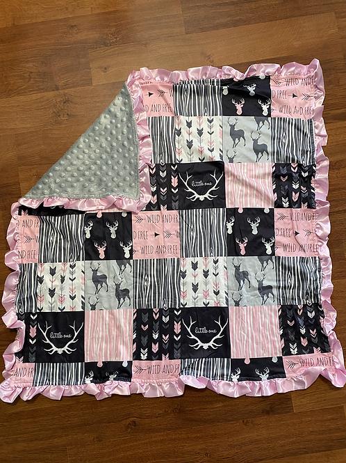 Wild and Free Deer Baby Blanket