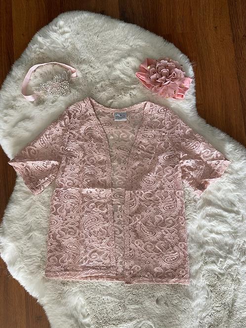 Blush Lace cardigan Shirt