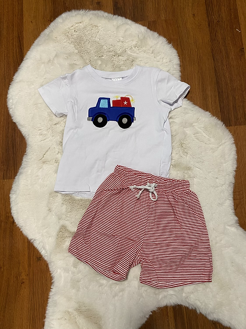 Truck With Dynamite Shorts Outfit