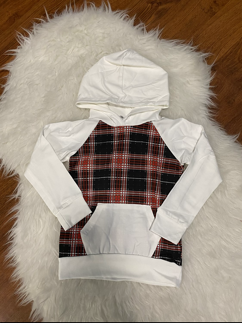 Plaid White Lightweight Sweater