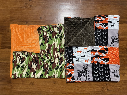 Little Man andCamo Baby Blankets
