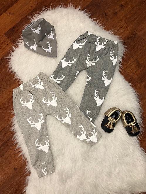 Deer Head Harem Pants