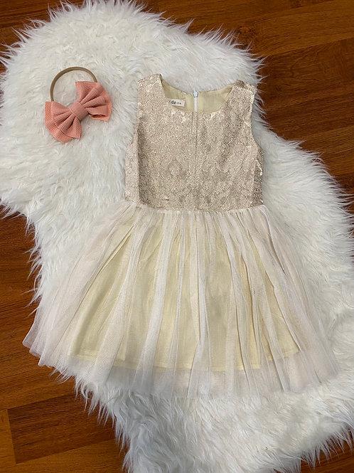 Beige Glam Top Dress