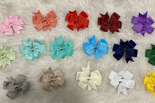 Solid Color Ribbon Clips