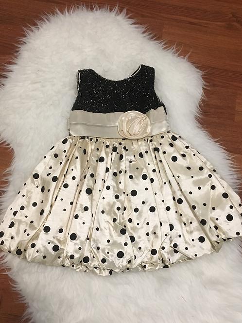 Black/Creme Poke a Dot Dress