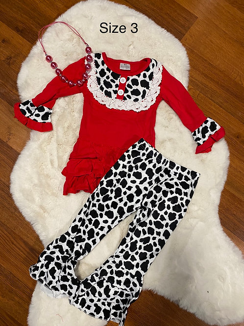 Red Moo Cow Outfit